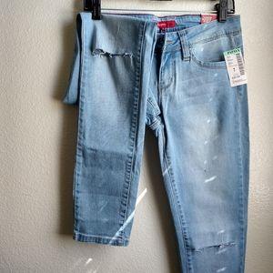 Papaya Blue Denim Skinny Jeans
